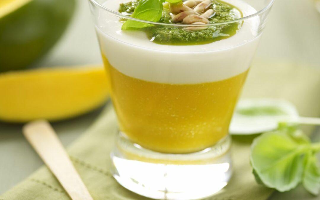 Yogur de mango y lima